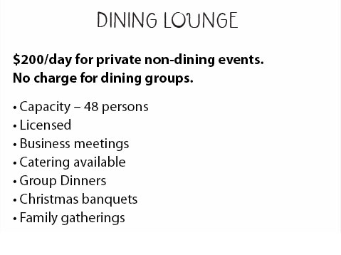 Dining Lounge Description
